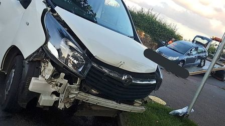 A driver has been arrested on suspicion of drug-driving following a crash in Norwich. Picture: Norfo