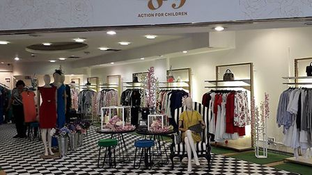 The 1869 Action For Children charity shop which is returning to Castle Mall on Friday. Pic: submitte