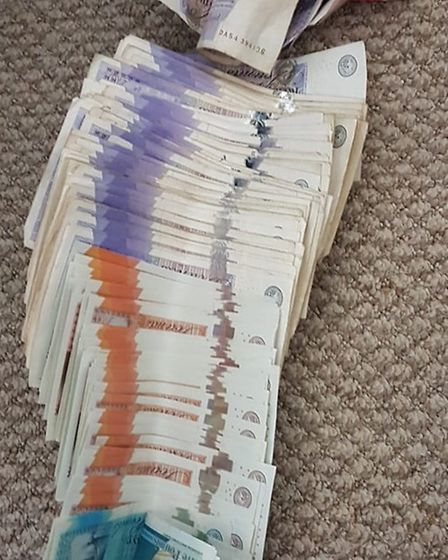 A suspected burglar was found with cash and arrested. Picture: Norfolk Police