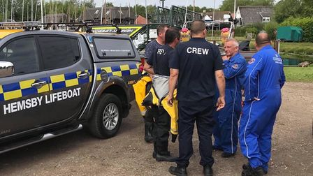 Emergency services were called to Horning Broad after a man fell off a boat. Photo: Hemsby Lifeboat