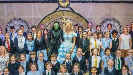 Nelson Academy in Downham Market awarded artsmark award at trip to see Wicked at the West End
