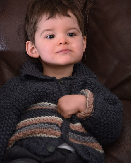 Charlie Hughes, 19-months-old, who has infantile spasms. Picture: DENISE BRADLEY
