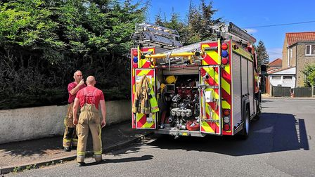 Firefighters were called to the scene of a large shed fire on Vera Road, Hellesdon. Photo: Bethany W