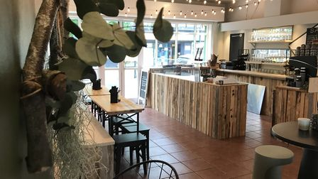 The inside of the new Salt cafe that is opening for business on Saint John Maddermarket off the city