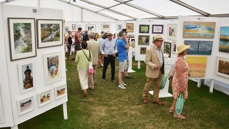 The Royal Norfolk Show Art Gallery is a great place to buy work by local artists Picture: ANTONY KE