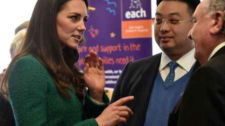 The Duchess of Cambridge visits EACH Hospice at Quidenham in 2017. Picture: Sonya Duncan