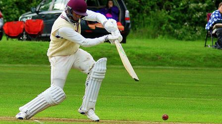 Lewis Denmark in action for Swardeston at the weekend Picture: TIM FERLEY