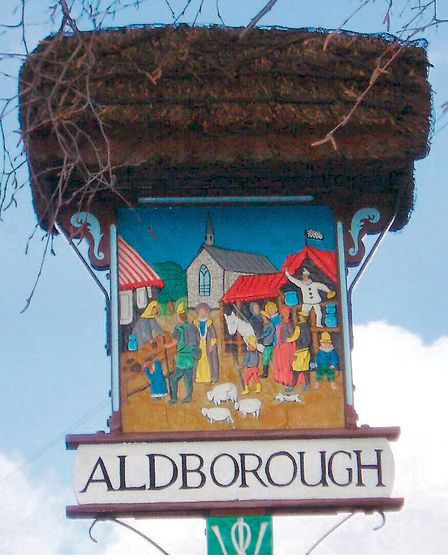 How Aldborough's village sign once looked. Picture: Archant library