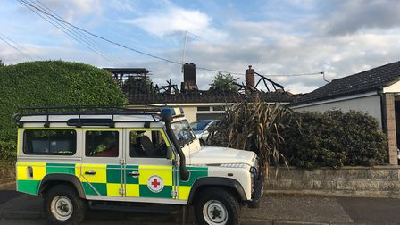 Fire crews have tackled a blaze at a house in Roughton Road, Cromer.