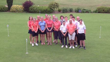 Pictured at the recent friendly match between Norfolk Ladies and Norfolk Boys are, from left to righ