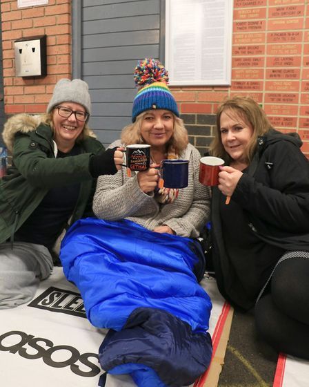 The team from the Royal College of Nursing taking part in Norwich Sleep Out 2018. Picture: The Benja
