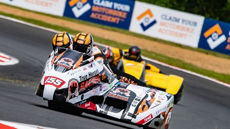 Michael Russell and Tom Bryant lead Shawn and Anthony Hildage out of Hawthorns at Brands Hatch Pict