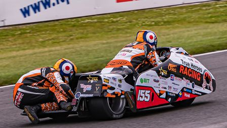Michael Russell and Tom Bryant claimed their first British Sidecar Championship points at Brands Hat