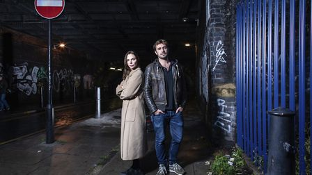 Samantha Womack stars as Rachel Watson and Oliver Farnworth plays Scott Hipwell in The Girl on the T