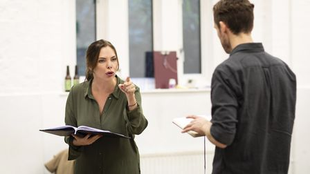 Samantha Womack in rehearsals for The Girl on the Train Credit: Helen Maybanks