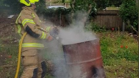 Firefighters from Lowestoft South fire station were called out on Tuesday, June 18 following reports