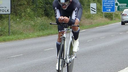 Mark Saunders – fastest from Lowestoft club VC Baracchi at the Godric CC Picture: Fergus Muir