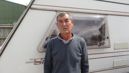 William Brazil at the Swanton Road Travellers' site in Mile Cross, Norwich. He has lived on the site
