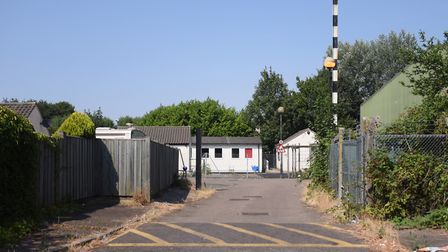 The entrance to the travellers site next to the Mile Cross Recycling Centre. Picture: DENISE BRADLEY