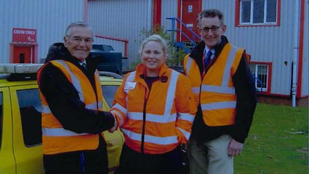 From left: Fred Milk, from BAGMA, Sophie Emmanuel, from EAAA, and John Rupp, from BAGMA. Picture: BA