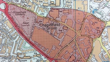 A 48-hour dispersal order is in place across Chapelfield. Picture: Dominic Gilbert