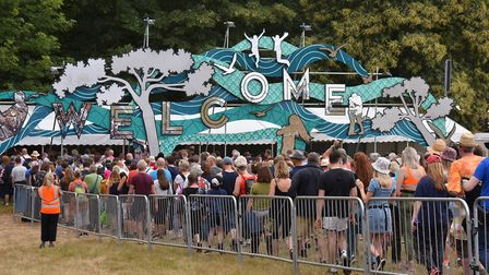 The gates opening on the Thursday at Latitude 2019. Picture: Jamie Honeywood