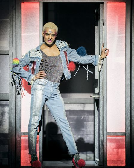 Layton Williams as Jamie in Everybody's Talking About Jamie in London's West End. Photo: Johan Perss