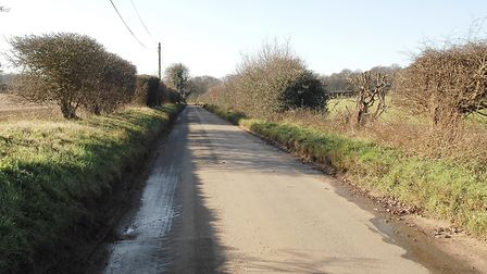 Docking Road, at Fring, where the fatal crash happened on Friday Picture: Chris Bishop