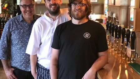 From left to right: Kevin Tweedy, owner of Golden Triangle Brewery, Jimmy Preston, owner of XO Kitch