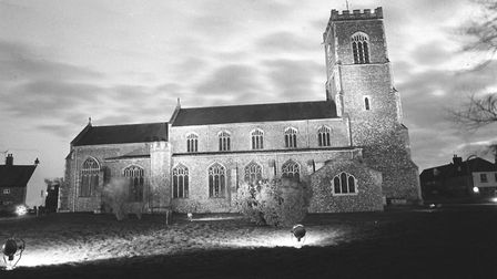 Wells Church floodlit pic taken 20th dec 1982 m96933-35 pic to be used in lets talk dec 2012