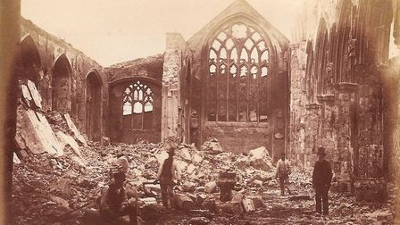 Wells church destroyed by fire. Picture: Submitted
