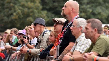 Fans watching Anna Calvi at the Obelisk Arena. Picture: Jamie Honeywood