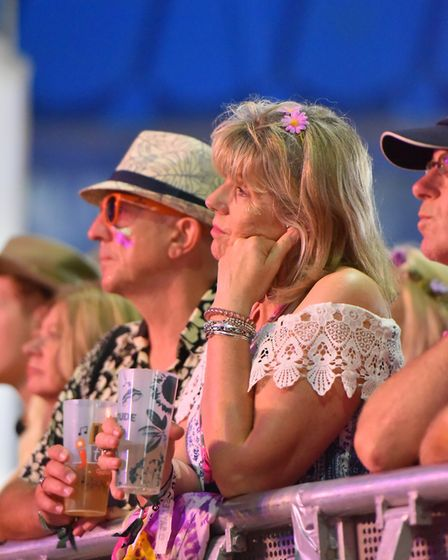 Fans watching Jonathan Wilson at the BBC Sounds Stage. Picture: Jamie Honeywood
