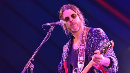 Jonathan Wilson playing at the BBC Sounds Stage. Picture: Jamie Honeywood