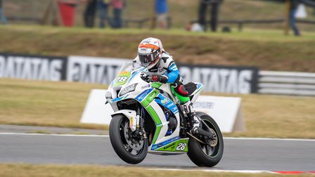Action from the British Superbike round at Snetterton Picture: Amanda Leeming