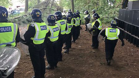 Police were called to an illegal rave at Grimston. Pic: Norfolk Constabulary.
