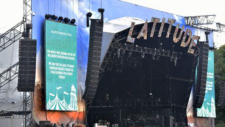 An electrical storm delays the Saturday line up at Latitude Festival 2019. Picture: Jamie Honeywood