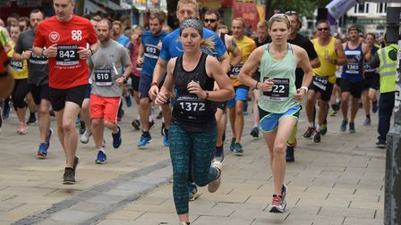 Runners taking part in the 10k Run Norwich event. Picture: DENISE BRADLEY