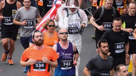 Nick Richards taking part in the Run Norwich 10k Picture: DENISE BRADLEY