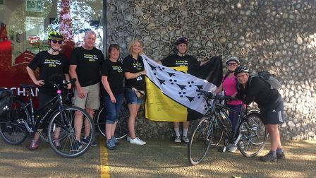 A team of cyclists from each of Norfolk's councils have completed a round county cycle relay for Nor
