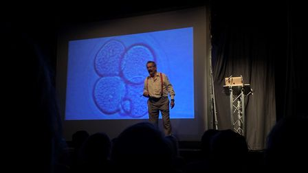 Lord Robert Winston gives a talk on fertility and embryology as part of the King's Lynn Festival PIC