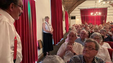 The audience in St George's Guildhall pose their questions to Lord WinstonPICTURE: Matthew Farmer