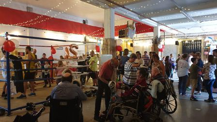 Hundreds of people came down to support the 24hr boxathon event at Redwell Brewery near Trowse. Pict