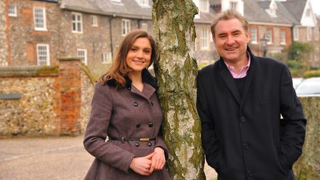 Alice Piper, a new Sky Sports presenter, with her father Kevin. Photo: Steve Adams