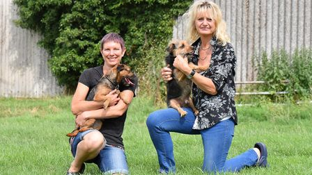 Emma Gray, left, and Sharon Tidnam, right, at Low Farm Boarding Kennels. Picture: Jamie Honeywood