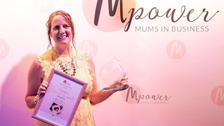 Norfolk accountant Heidi Fisher winning the national award. Pic: contributed