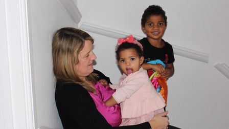 Heidi with her own children, Elisha and Lewis. Pic: contributed