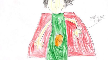 Mr Norfolk by George Engrestone, aged 8, drawn for the Norfolk Day Superhero Competition 2019. Pictu