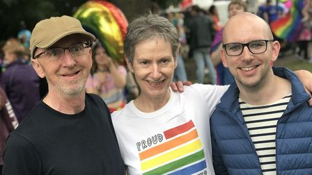 Peter Sheehan, with parents Anne and Michael.