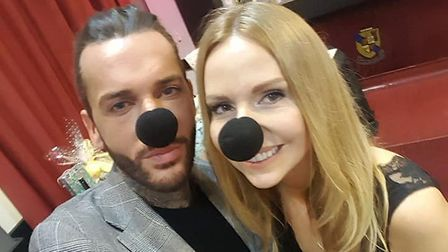 Pete Wicks of The Only Way is Essex wearing a wetnose. Picture: Wetnose Animal Aid